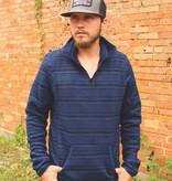 Panhandle Slim Blue & Black Stripe Fleece Pullover