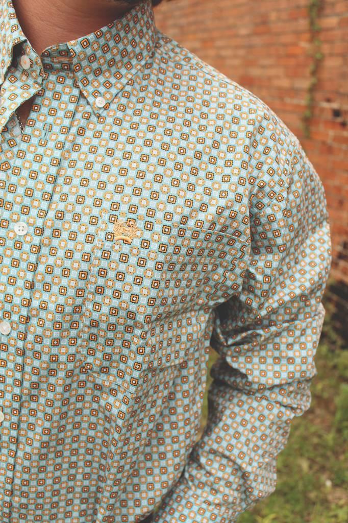 Cinch Cinch Patchwork Button Down