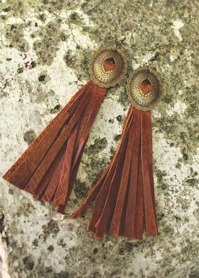 Diamond T Outfitters The Concho Fringe Earring
