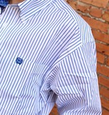 Cinch Cinch Long Sleeve Royal Pin Stripe