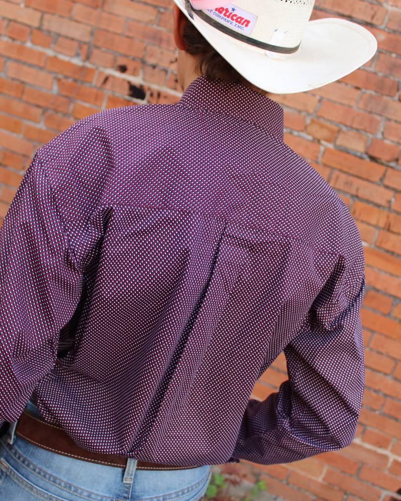 Diamond T Outfitters George Strait Maroon Tile Print