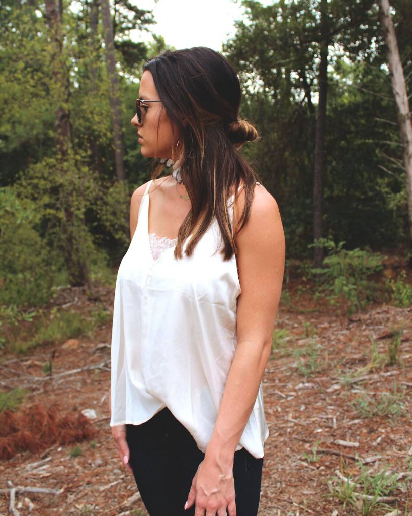Diamond T Outfitters Ivory Lace Cami
