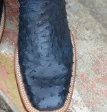 Lucchese Black Blueberry Full Quill Ostrich