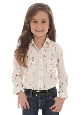 Wrangler Little Girls Cactus Arena Shirt
