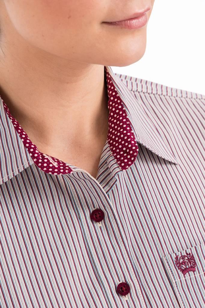 Cinch Cinch Ladies Maroon Stripe Shirt
