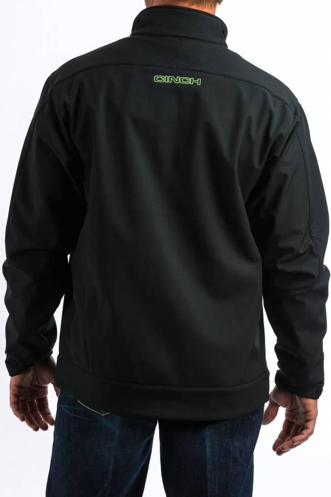 Cinch Solid Black W/ Neon Green Bonded Jacket