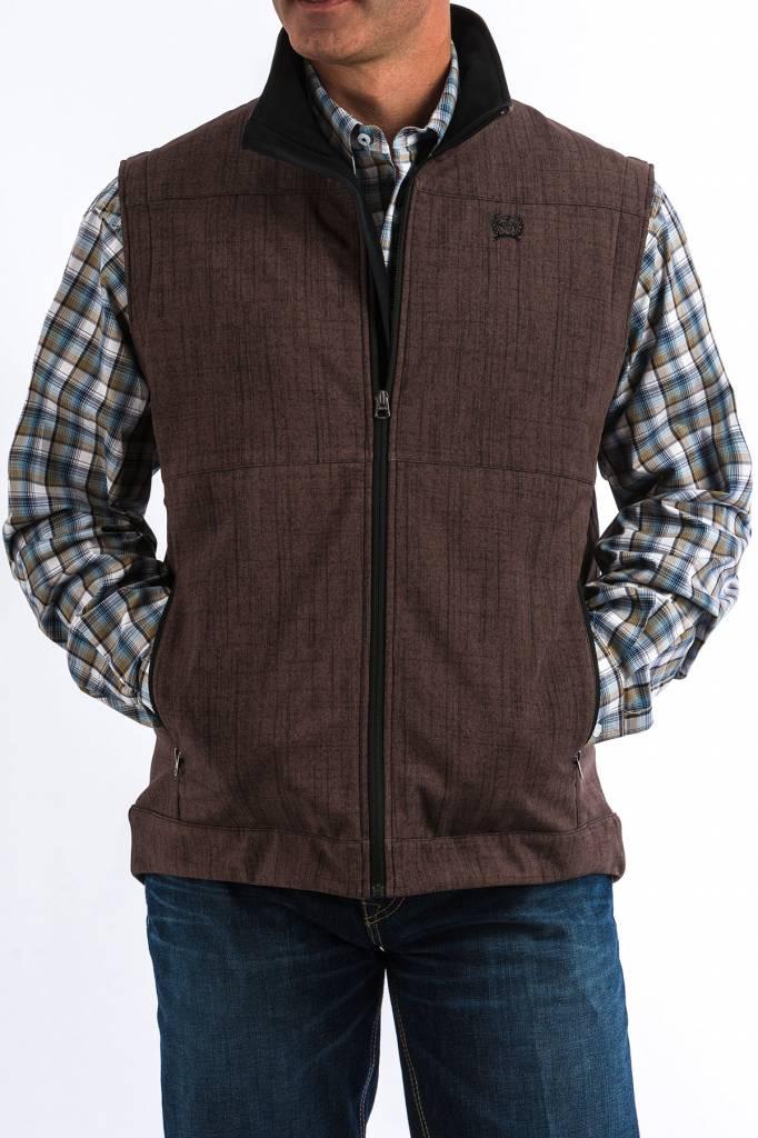 Cinch Brown Textured Bonded Vest