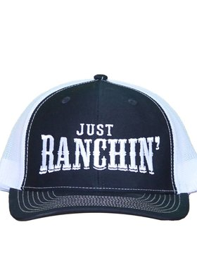 Diamond T Outfitters Just Ranchin' Cap in Navy + White