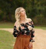 billabong Mi Amore Blouse Black Floral