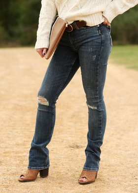 Silver Jeans Bleecker Indigo Skinny Bootcut