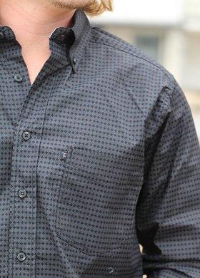 Diamond T Outfitters Tuf Cooper Long Sleeve Black Diamond Print