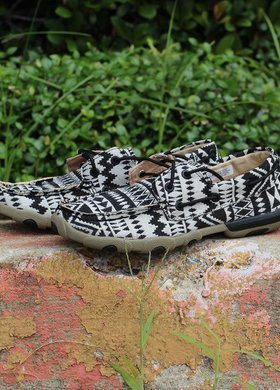 Twisted X Twisted X Ladies Aztec Canvas Boat Shoe