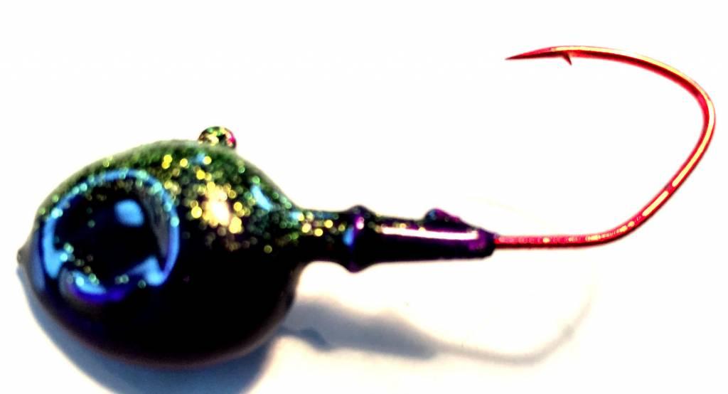 Domka Jigs Minnow Head 3 pack Antifreeze/Purple 3/4 oz