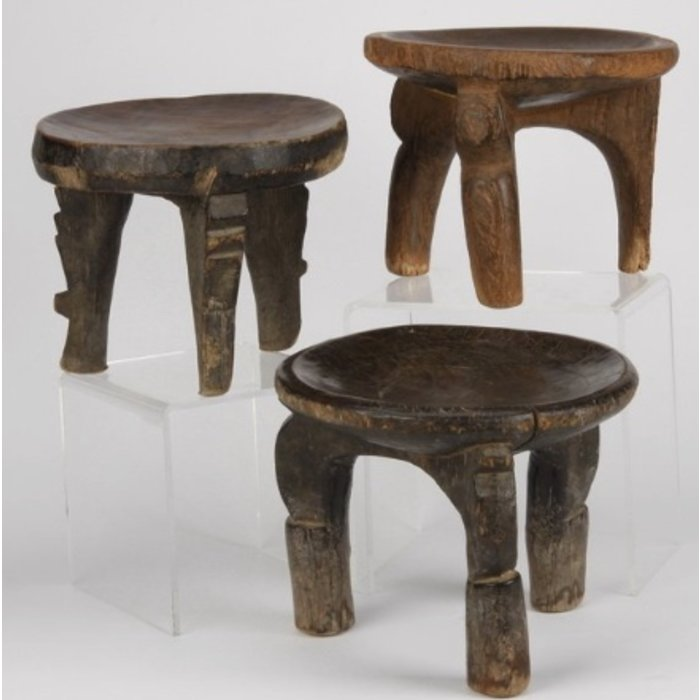 Group of three Tanzanian stools