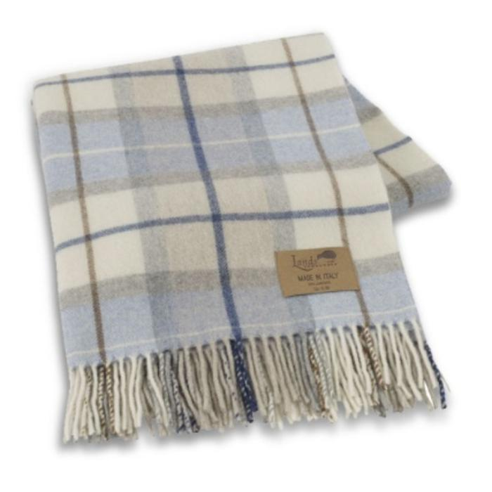 SORRENTO LAMBSWOOL PLAID THROW