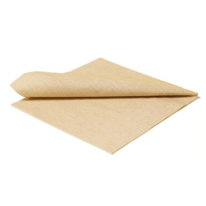 Paper napkin plain, ochre