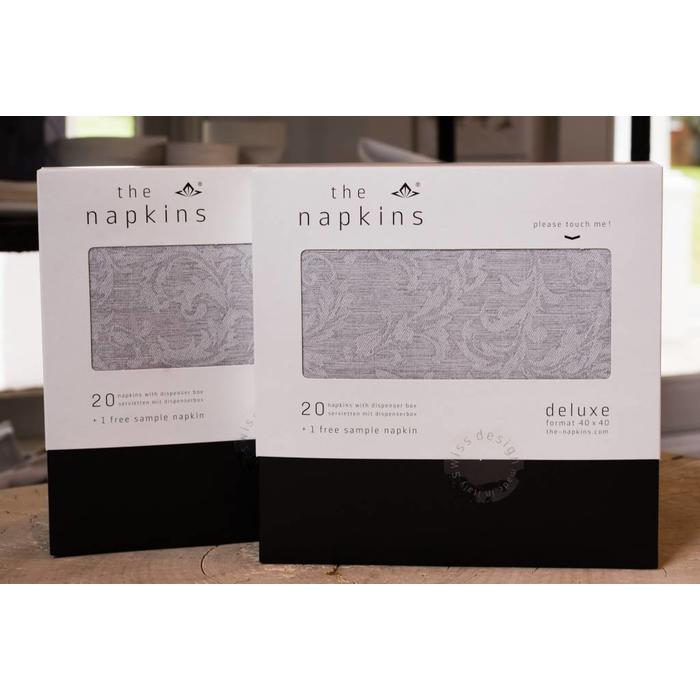 Paper Napkin Classic Floral, SILVER GREY