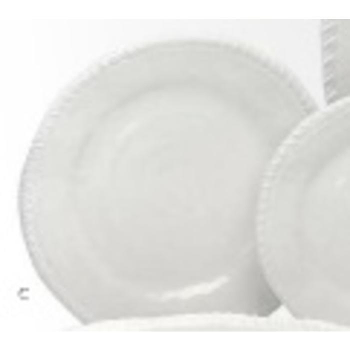 Melamine White Rope Round Dinner Plate