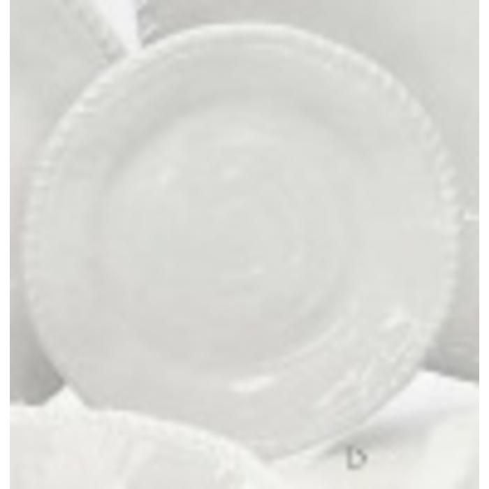 Melamine - White rope salad plate, white
