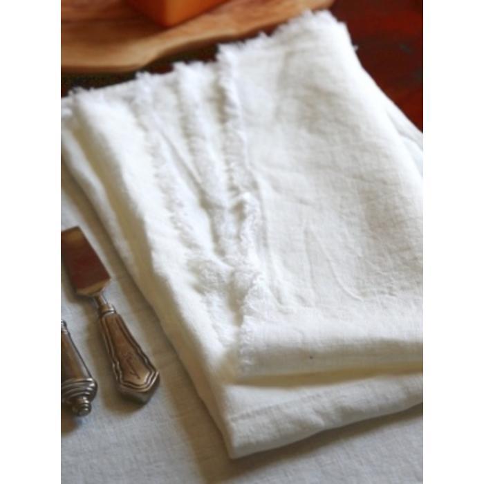 Linen Bilbao napkin, white 25 x 25