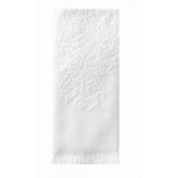 Moroccan Hand Towel with Fringe, white