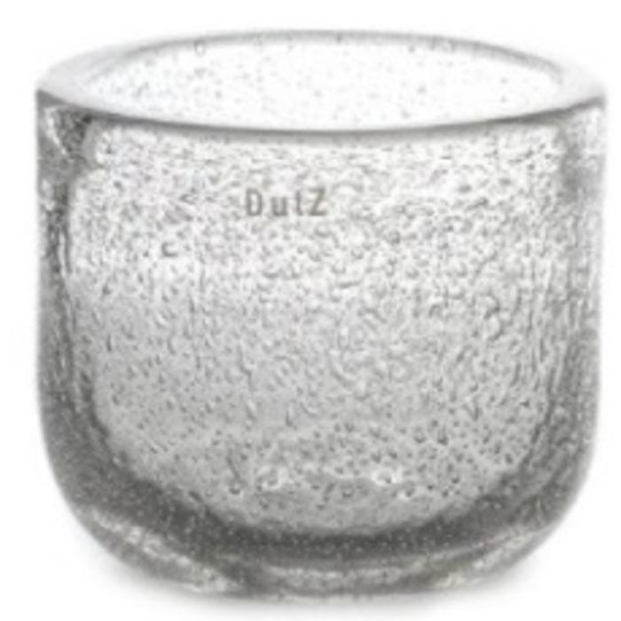 Bowl/Vase THICK GLASS clear bubbles