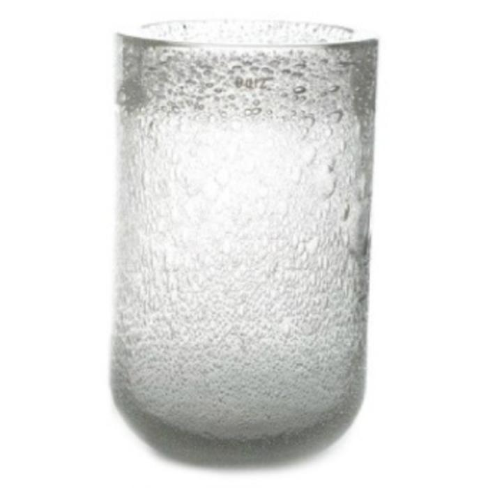 Vase THICK GLASS clear bubbles