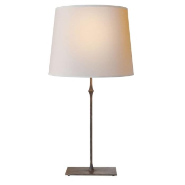 Dauphine Table Lamp In Aged Iron With Natural Paper Shade