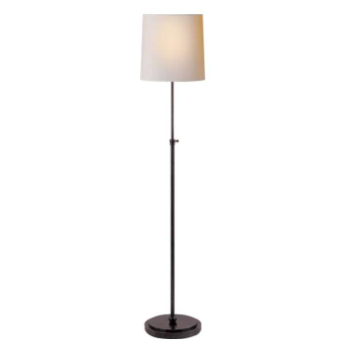 Bryant Floor Lamp in Bronze with Natural Paper Shade