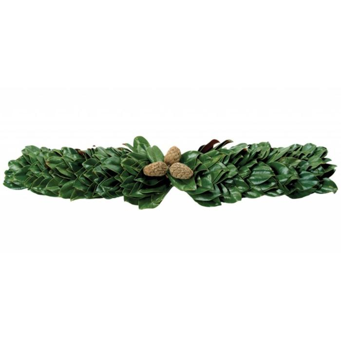 All Green Magnolia Mantel 48""