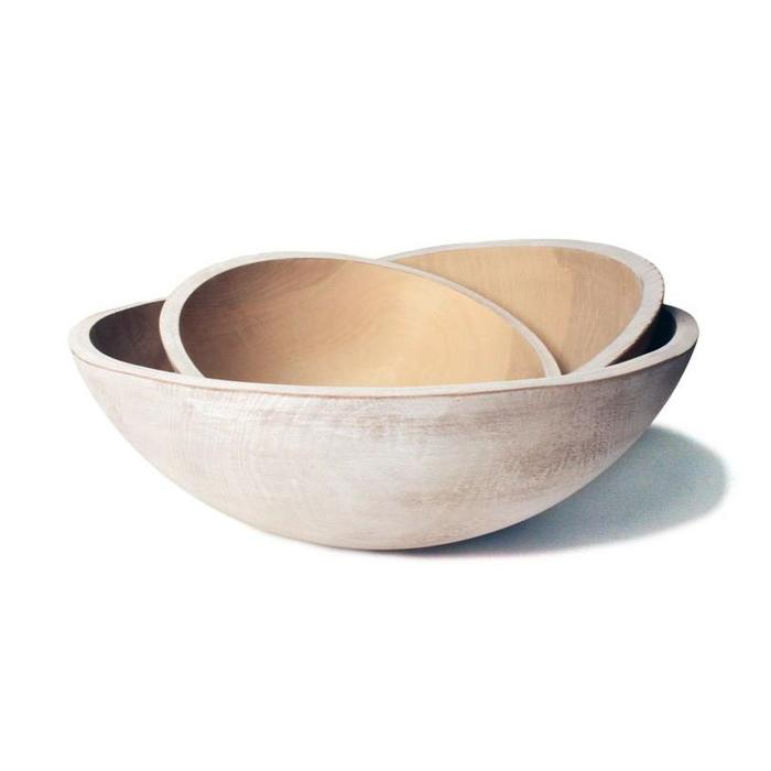 """FP Wooden Peasant Bowl - 15"""""""
