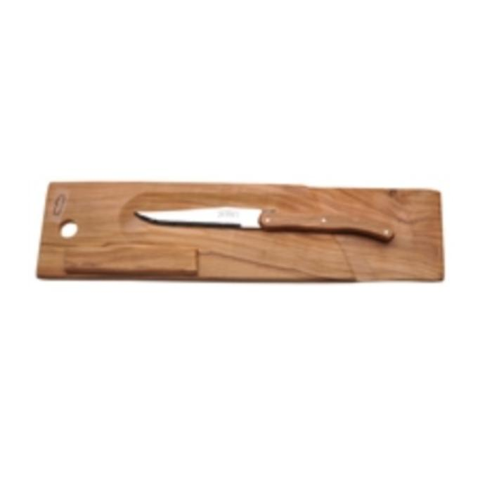 Jean Dubost Baguette/Salami Board Olivewood by Jean Dubost