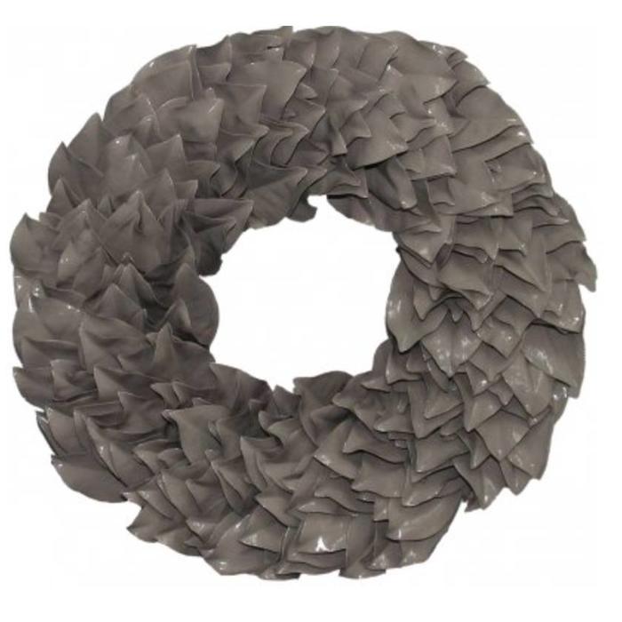 """Lacquered Magnolia Wreath - Taupe 23"""""""
