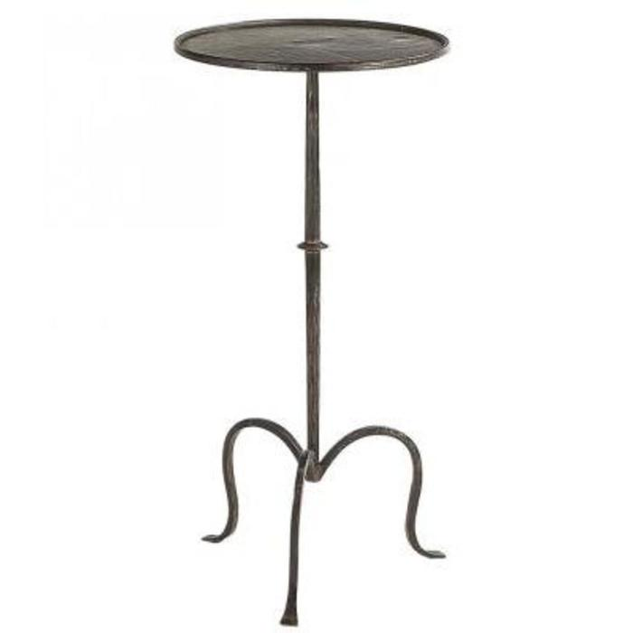 Hand-Forged Martini Table in Aged Iron