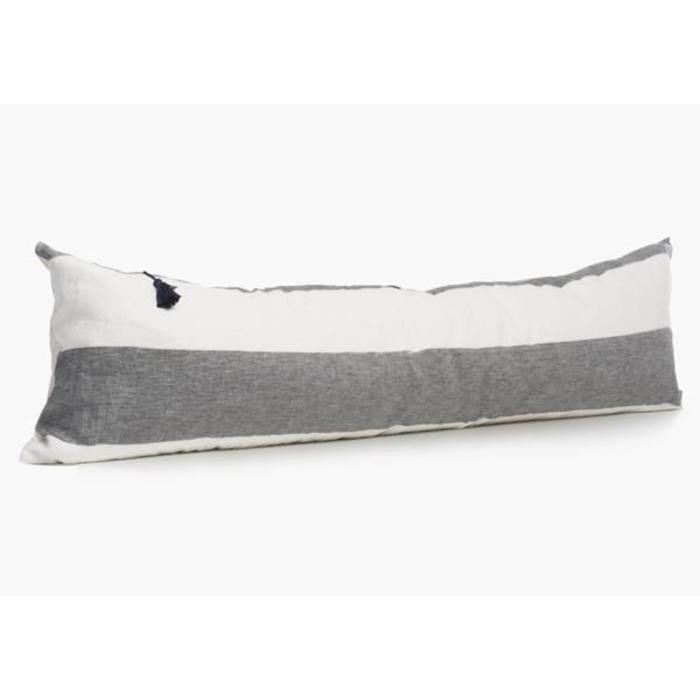 Harbour Island Lumbar Pillow In Charcoal