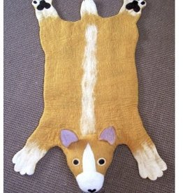 Sew Heart Felt Prince the Corgi Rug