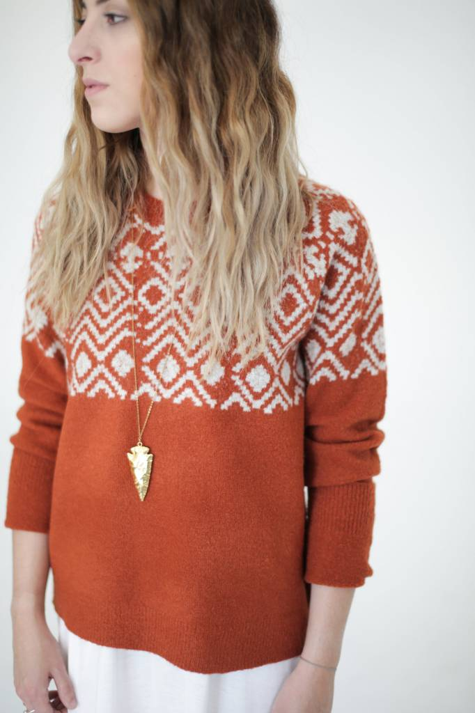 Olive & Oak Cayenne Print Sweater