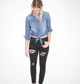 Driftwood Wild Ride Chambray Top