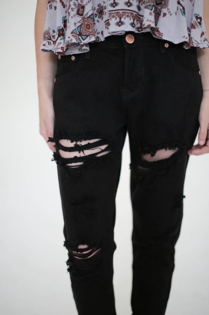 Glamorous UK Jet Black Jeans