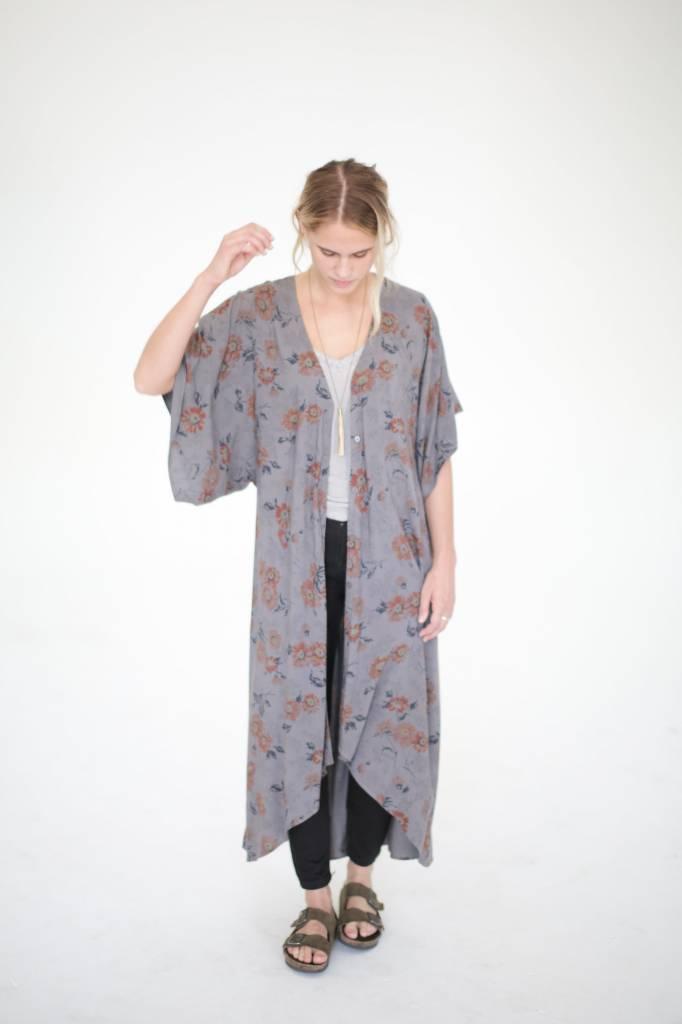Saltwater Luxe Floral Festival Kimono