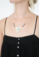 Kris Nations Vera Cruz Triangle Necklace