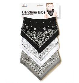 FCTRY Bandana Bibs- Black + White