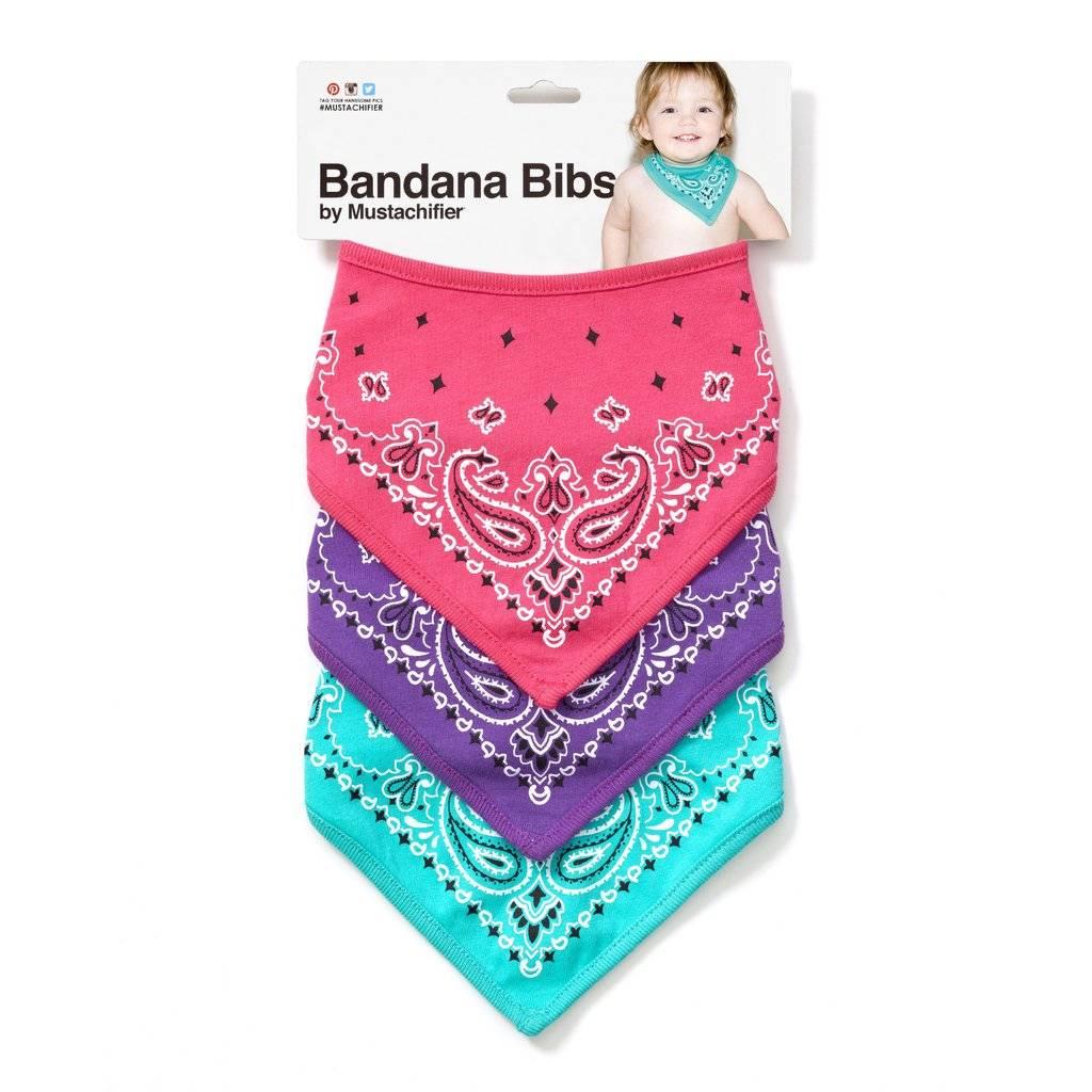 FCTRY Bandana Bibs - Purple, Pink, & Mint