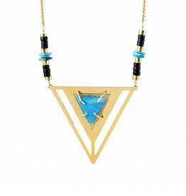 Kris Nations Vera Cruz Triangle Necklace