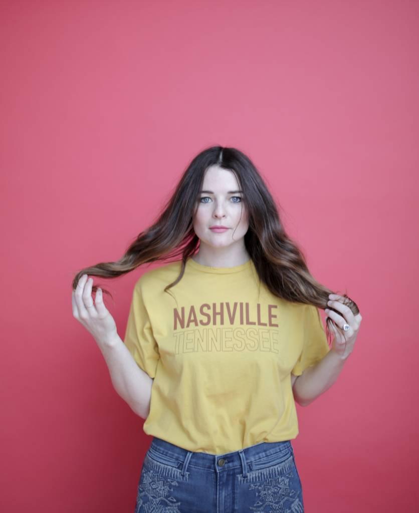 Midnight Rider Mustard Nashville Tee