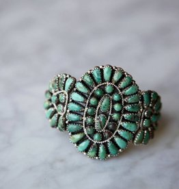 Apache Trading Co. Turquoise Blossom Cuff