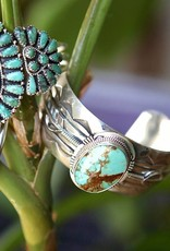 Apache Trading Co. Turquoise Feather Cuff