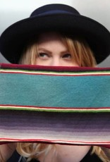Large Rainbow Serape Clutch
