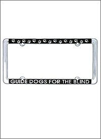 License Plate Frame-black