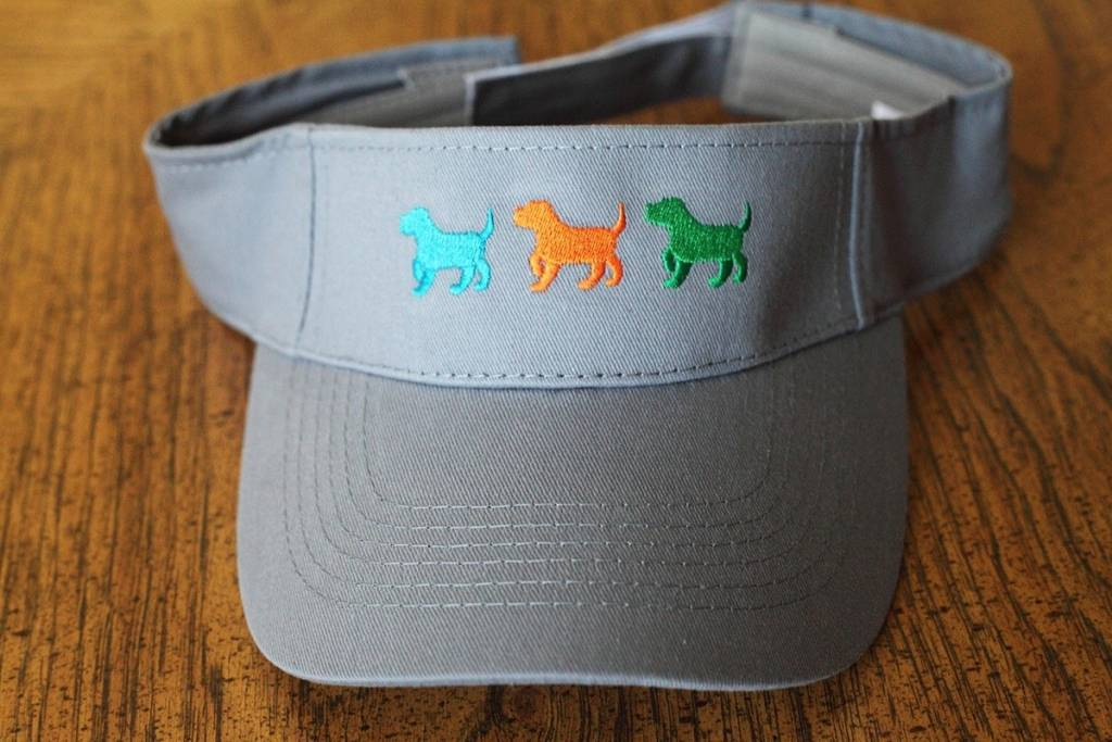 3 pups visor - gray
